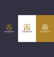 set church christian logo design vector image vector image