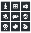 Set of Alcohol Addiction Icons Hooch vector image vector image