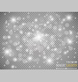 set of golden glowing lights effects isolated on vector image