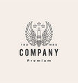 spark plug wing hipster vintage logo icon vector image vector image