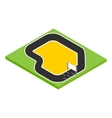 Speedway isometric 3d icon vector image