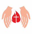 the hands of christ vector image vector image