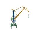 tower crane isometric 3d element vector image vector image