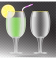 Transparent wineglass vector image vector image