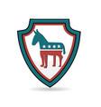 usa shield democrat symbol vector image