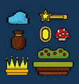 video game icons set entertainment play vector image
