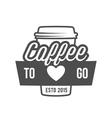 vintage coffee badge logotype vector image vector image