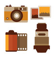 vintage photography photo equipment vector image