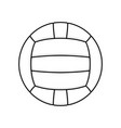 volleyball symbol white vector image vector image