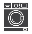 washing machine solid icon household appliance vector image