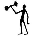 weight lifter tall silhouette vector image vector image