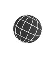 world icon globe travelling around the world for vector image vector image