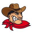 Cartoon cowboy in hat vector image