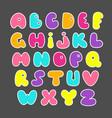 cute hand drawn alphabet funny comics font vector image