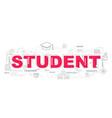 design concept of word student website banner vector image