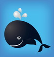 whale ocean fish isolated vector image