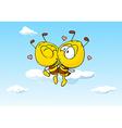 bee in love kissing - cute vector image