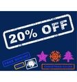 20 Percent Off Rubber Stamp vector image vector image