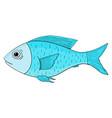 blue fish hand drawn cartoon sketch vector image vector image