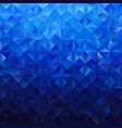 blue geometric triangular pattern vector image