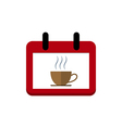 Coffee calendar vector image vector image