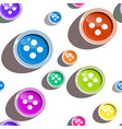 colorful seamless buttons on white background vector image