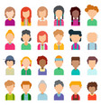 colorful set of avatars in flat design vector image vector image