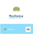 creative car logo design flat color logo place vector image