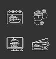 cruise chalk icons set vector image vector image