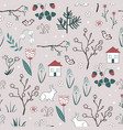 cute spring seamless pattern with cartoon vector image vector image