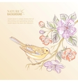 cute watercolor bird vector image