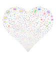 dollar stars fireworks heart vector image vector image