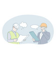 engineering and construction business concept vector image vector image