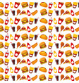 fast food unhealthy collection seamless pattern vector image