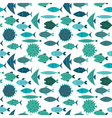 fish pattern blue vector image