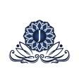 flower elegant icon initial j vector image vector image