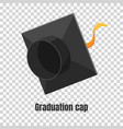 graduation cap or hat in the vector image vector image