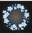 Graphic sakura wreath vector image vector image