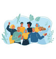 group happy people on vacation vector image vector image
