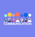 group of arabic people with chat bubbles vector image vector image