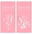 Invitation or wedding card with elegant floral vector image