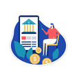mobile banking - flat design style colorful vector image
