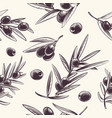 olive branches seamless pattern mediterranean vector image vector image