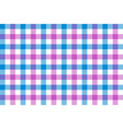 pink blue check fabric texture background vector image vector image