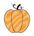 pumpkin fresh isolated icon vector image