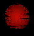red moon in dark vector image vector image