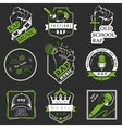 Set logos and Badges Rap Music vector image vector image