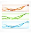 Set of colorful banners with curved lines vector image vector image