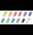 Set of medicine tubes vector image vector image