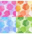 set seamless floral patterns vector image